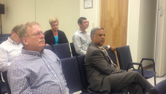 District officials and a few residents attend a public forum in the Wappingers Central School District on Monday. Seated front left is current interim superintendent Jose Carrion.