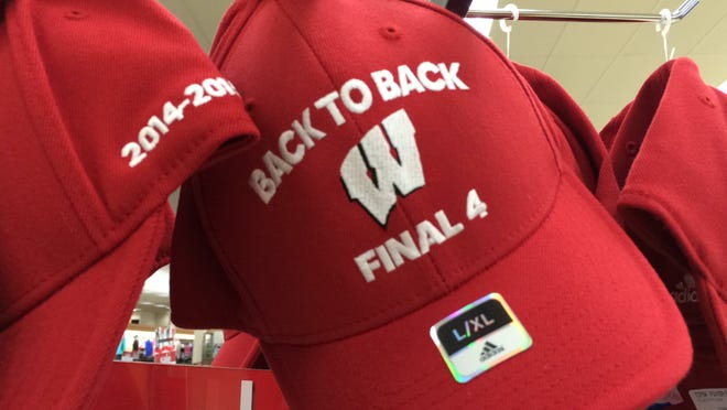 The Back to Back logo also is found on hats at the Wisconsin Rapids Shopko.