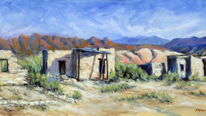 """Better Times,"" an oil painting by Steve Unger, is part of a showing of works by the Plein Air Painters of the Four Corners opening this weekend at the Artifacts Gallery."