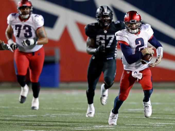 March 24, 2019: Memphis Express quarterback Johnny