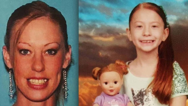 Amanda Hayward, left, and her daughter Sapphire Palmer, 7, were reported missing Tuesday from Hamburg Township. They were found safe in Homosassa, Florida, Thursday evening.