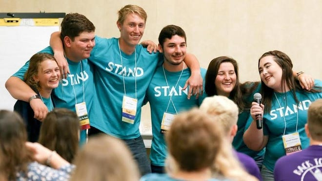 Members of STAND, a social norms group formed by Mirror, Inc. and supported by Harvey County D-Fy, present at the annual Kansas Prevention Conference last year. Their work, along with efforts by D-Fy, have resulted in reduced risk factors for substance use and abuse by teens in Harvey County.