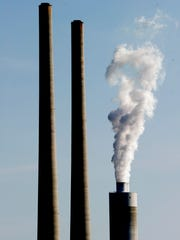 The smokestacks at TVA Kingston Fossil Plant in Harriman,