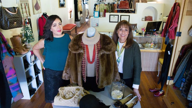Norma Verduzco, right, and Laura LeBlanc, co-owners of the newly re-opened My Rich Sister's Closet in Mesilla. Thursday Nov. 30, 2017.