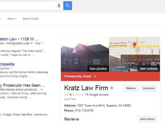 kratz law firm still open despite reports
