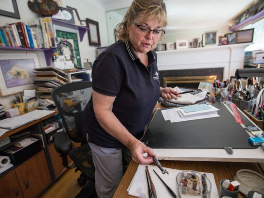 Vicki Corwin, 61, is an independent calligrapher that