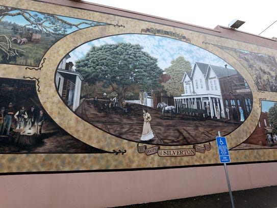 The Old Oak Tree mural near First and Main Streets