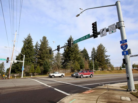 The intersection of Kuebler Boulevard and Battle Creek