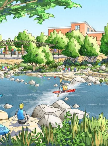 Funding from Ballot Issue No. 1 on the April 7 municipal ballot combined with other funds would pay for improvements along the Poudre River through downtown Fort Collins, including building a whitewater park and viewing areas.