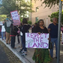 Tohono O'odham tribal members opposing Trump's border wall take fight to McCain