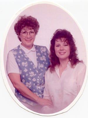 Marilyn Cox, left, with her daughter, Linda Cox Watson.