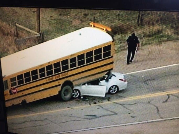 A car-bus crash north of Fort Collins injured 5 on Friday morning.