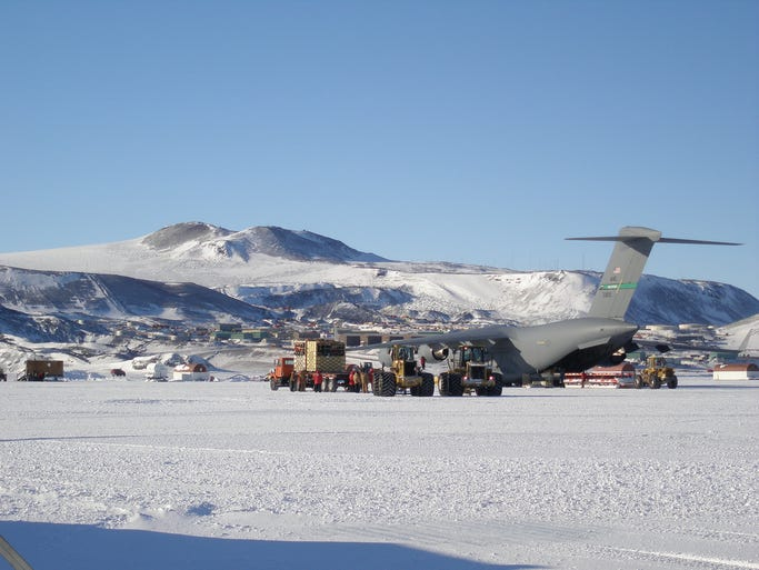 """Airfarewatchdog.com has compiled a list of what it calls the 10 """"most thrilling"""" airports across the globe. Some airports make the list for white-knuckle landings while others are there for their unusual juxtaposition with surrounding communities. Sea Ice Runway, Antarctica: Airfarewatchdog.com says: """"Unpaved and a chance the ice could crack under the weight of a plane."""""""
