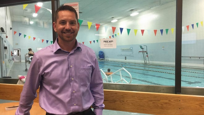 Chad Zaucha stands in the downtown Muncie YMCA. Zaucha takes over as the new CEO on Oct. 3.