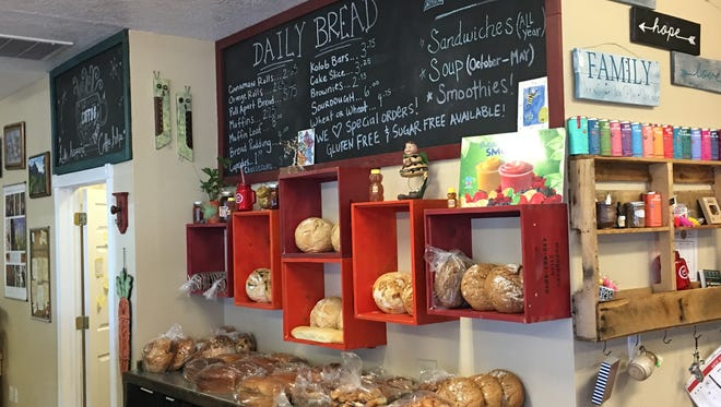 Muddy Bees bakery offers a variety of fresh breads, including honey wheat that's sweetened with the owner's own honey.