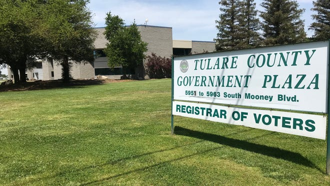 Tulare County Elections Office located inside Government Plaza, 5951 South Mooney Blvd,. Visalia.