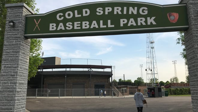The entrance to Cold Spring Baseball Park helps welcome fans to the stadium.