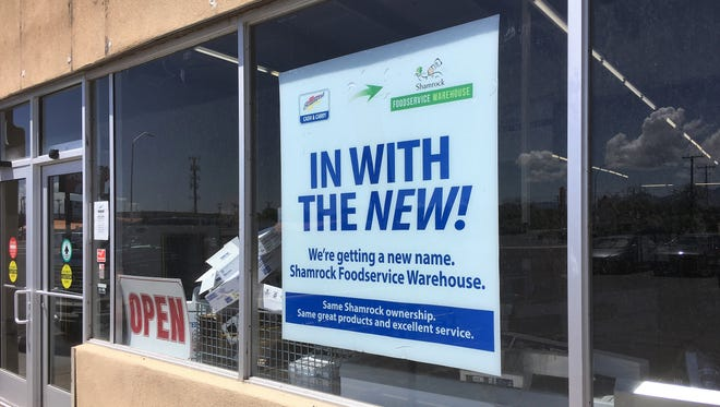 The Cash & Carry warehouse store is rebranding, under the same ownership, as Shamrock Foodservice Warehouse. The store is seen on Tuesday,  July 17, two days before the ribbon cutting.