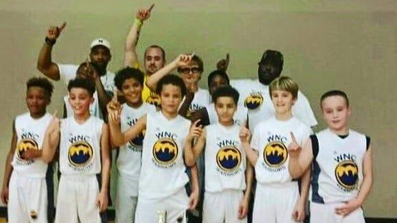 The Western North Carolina Warriors 5th grade boys basketball team.