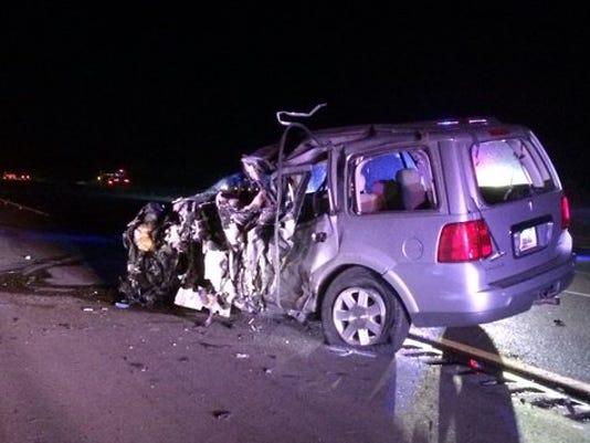 Wrong-way crash closes eastbound I-10