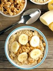 Banana walnut overnight oatmeal.
