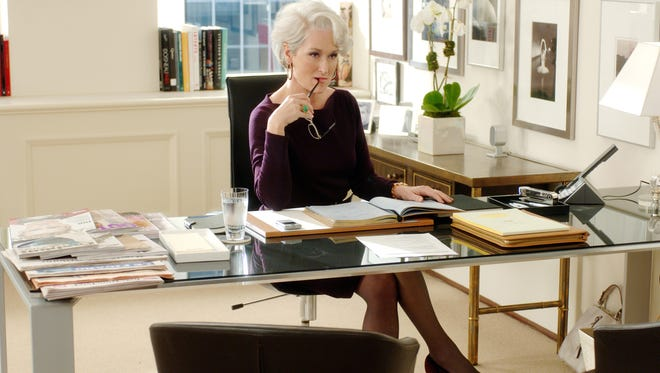"""Meryl Streep, the tough fashion executive, in a scene from the movie """"The Devil Wears Prada."""""""