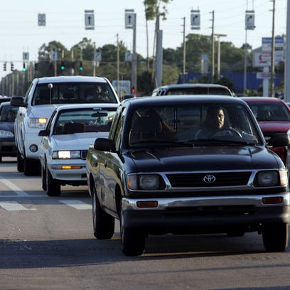 Southbound traffic backs up on Minton Road in West