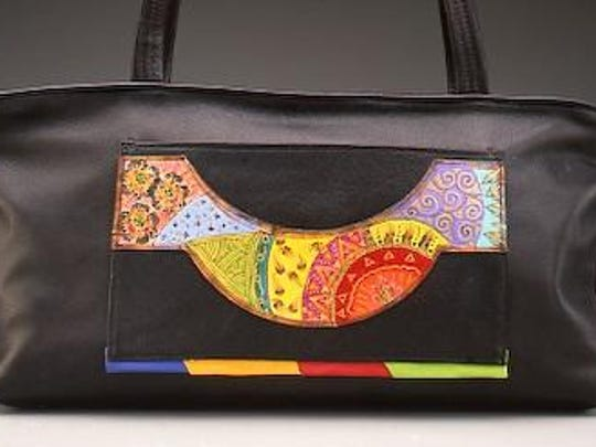 Leather bag by Ilze Heider, the featured leather artist