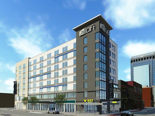 Aloft Hotel Rendering Photo Starwood Properties
