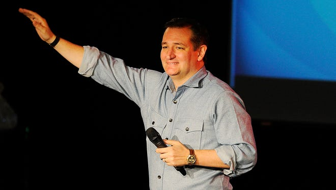 """Republican presidential candidate Ted Cruz brought his campaign to Nashville on Tuesday as part of his """"Take-Off with Ted Cruz Country Christmas Tour."""" Cruz spoke at Nashville's Rocketown."""