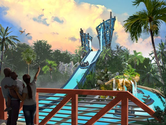 Infinity Falls at SeaWorld Orlando will be a rainforest river experience.