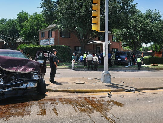 A two-vehicle accident Thursday afternoon involved
