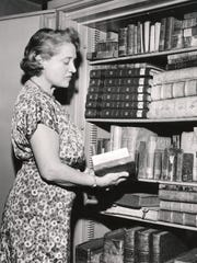 Corinne Miller Simons, librarian at the Lloyd Library,