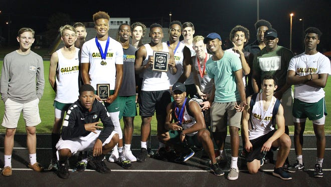 Gallatin' boys won the Sumner County Track and Field Championship meet, defeating second-place Beech by 42.5 points.