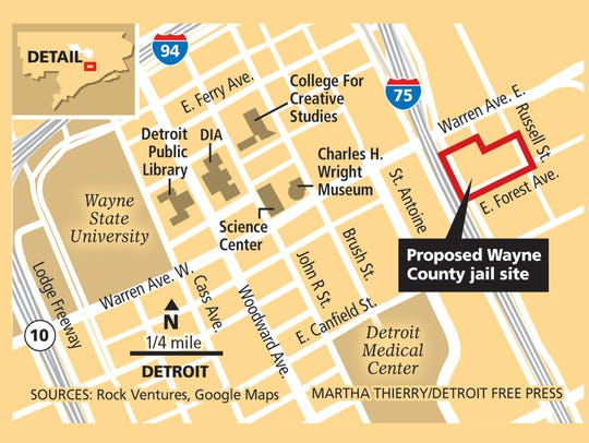 Proposed Wayne County jail site