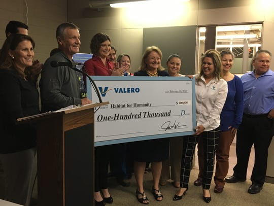 Valero Bill Greehey Refineries made a donation to Habitat
