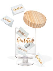 The Gratitude Glass Jar lets families write notes of