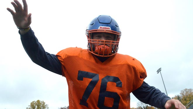 Saugatuck's Tommy Beckman wreaks havoc on opposing offensive lines.