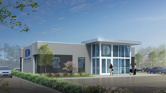 This artist's rendering depicts the new Dover Federal Credit Union branch in Smyrna