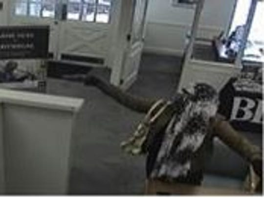 Surveillance image of a bank robbery that occurred Wednesday in West Deptford.