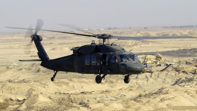 UH-60L Blackhawk helicopter over Iraq SSGT SUZANNE M. JENKINS, USAF