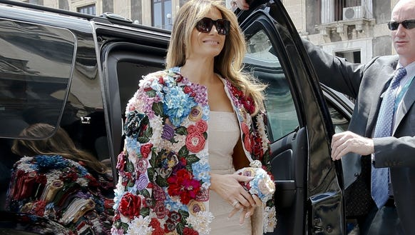 First lady Melania Trump wearing (you guessed it!)