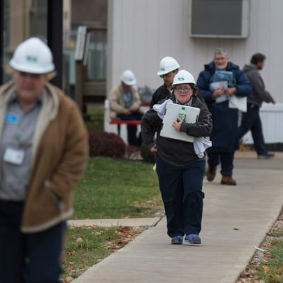 First-shift employees at TOA Industries in Winchester,