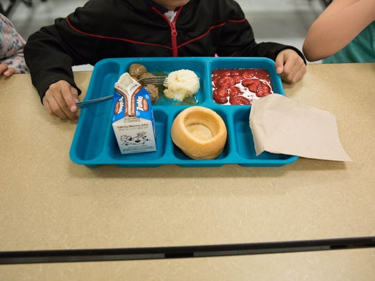 Shepard's Pie at Alameda Elementary School, Tuesday February 28, 2017. Las Cruces Public Schools announced they would be launching a new mobile application and webpage that gives parents a view of the lunch menus and nutritional information of the lunches.