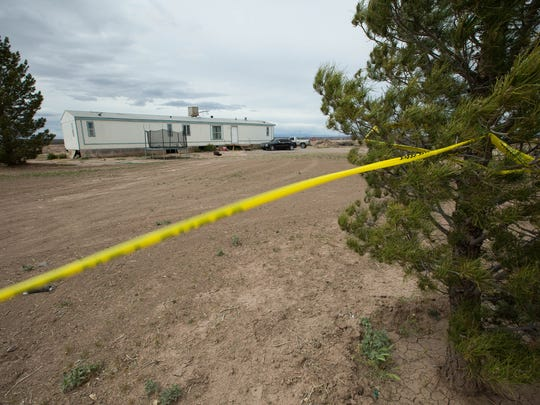 Doña Ana County Sheriff's detectives said two bodies were found inside a mobile home in the 3200 block of Carriage Hills in Garfield, north of Hatch, on Sunday. Investigators believe the man and woman inside were shot dead.