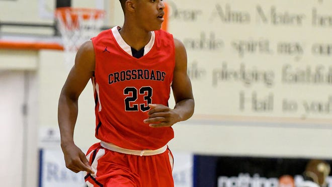 12/16/2016 6:08:25 PM -- Las Vegas, NV, U.S.A  Crossroads Roadrunners forward Shareef O'Neal (23) jogs up court during a game against the Cathedral Catholic Dons on the second night of the Tarkanian Classic. Crossroads won the game 42-29. Photo by Stephen R. Sylvanie USA TODAY Sports Images, Gannett ORG XMIT:  US 135848 Tark Classic 12/16/20 [Via MerlinFTP Drop]
