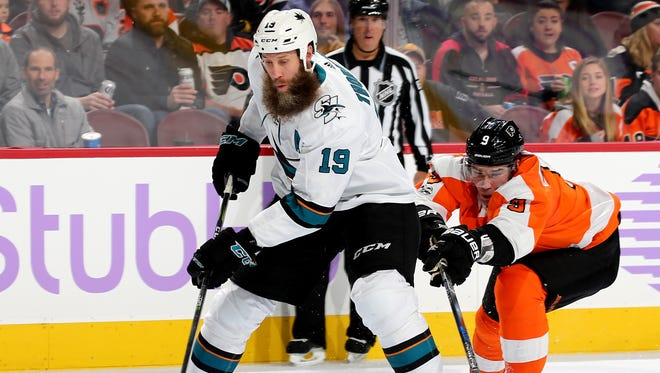 Joe Thornton scored against the Flyers on the power play last game. They've allowed power-play goals against in seven straight games.