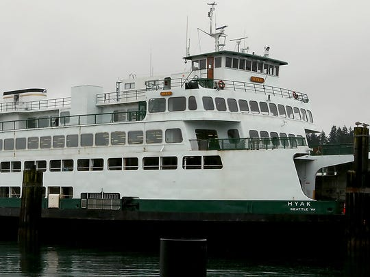 The ferry Hyak on Thursday at Eagle Harbor Maintenance Facility.