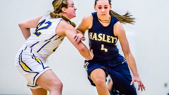 Haslett senior Makenna Ott, who had 25 points against DeWitt on Friday, will miss at least a month with a stress fracture.