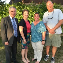 Members of the FAPSU executive board, from left to right, Judge Fred Klimetz, Kathy Hahn, Sara Martin, Mark Finne.